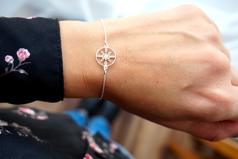 Silberarmband. WIND ROSE