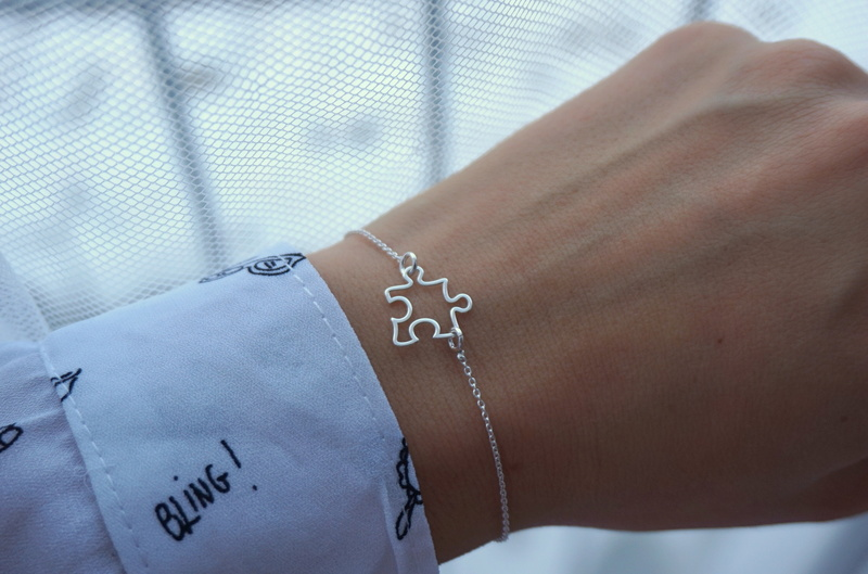 Silber PUZZEL Armband